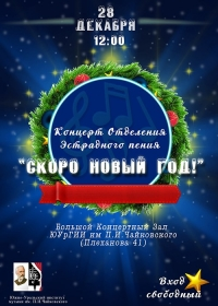 Концертная программа «Скоро будет Новый Год!»